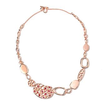 "Rachel Galley Ruby Collar Necklace Rose Gold Plated Silver Size 20"", 1.56 Ct"