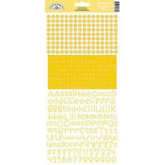 Doodlebug Design Bumblebee Teensy Type Adesivos