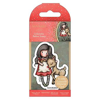 Gorjuss Collectable Mini Rubber Stamp No.79 Oh Deer