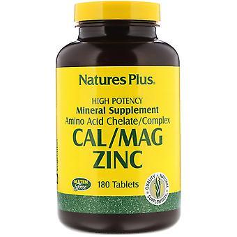 Nature-apos;s Plus, Cal/Mag Zinc, 180 Comprimés