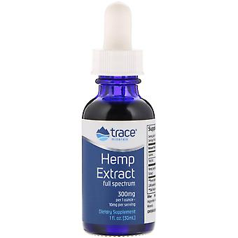 Trace Minerals Research, Hennep Extract, 300 mg, 1 fl oz (30 ml)