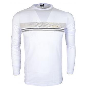 883 PolitieHoek Slim Fit Wit T-shirt met lange mouwen