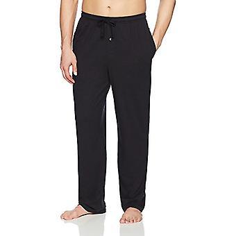 Essentials Men's Knit Pajama Pant, Black, Medium