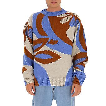 Dries Van Noten 212321703004 Men's Multicolor Wool Sweater