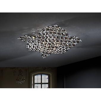 Schuller Sat - 4 Light Crystal Flush Ceiling Light Chrome, G9