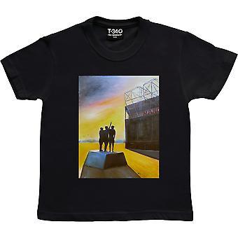 Hadrian Richards Old Trafford Black Kids' T-Shirt