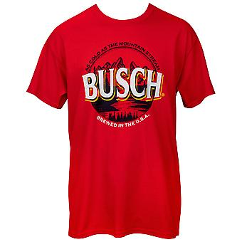 Busch Beer As Cold As the Mountain Stream Logo T-Shirt