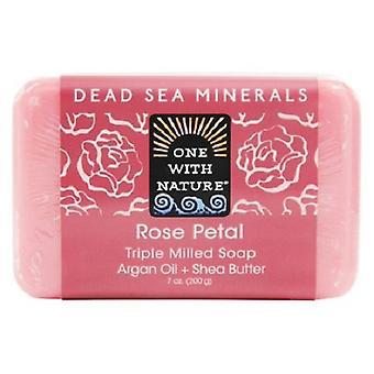 One With Nature Dead Sea Minerals Triple Milled Bar Soap Rose Petal