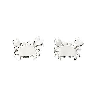 Beginnings Sterling Silver Crab Stud Earrings A2061