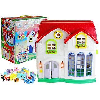 Speelgoed poppenhuis - 40x18x70 cm - 28-delig