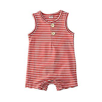 Baby Summer Striped Romper Clothes, Sleeveless,