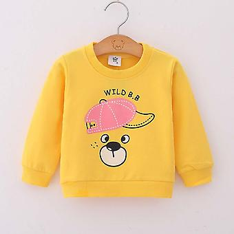 Baby Girls Hoodies Tops Cotton Cartoon Print Tracksuit Clothes, Newborn Boys