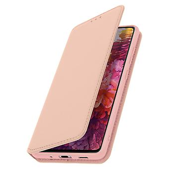 Capacul din spate pentru Samsung Galaxy S20 FE Folio Wallet Function Stand Rose Gold
