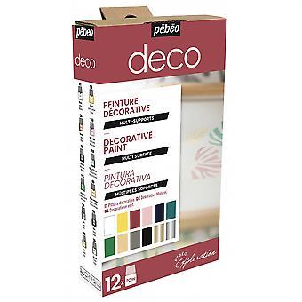 Pebeo Deco Paint Explorer -sarja 12 x 20ml
