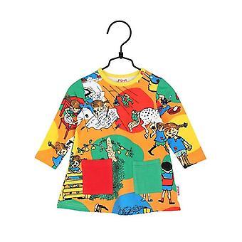 Pippi Longstocking In Villekulla Dress Baby, Orange