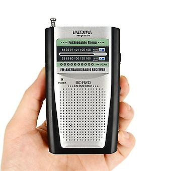 BC-R20 Pocket Manual Multi-function Dual Band AM FM Receiver Antenna Radio
