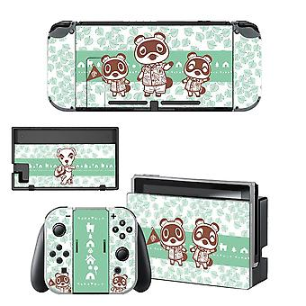 Animal Crossing Style Screen Protector Sticker Pour Nintendo Switch , Ns Console