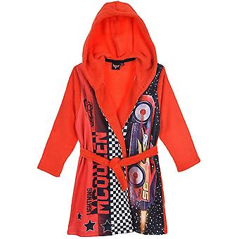 Boys TH2004 Disney Cars Hooded Coral Fleece Dressing Gown