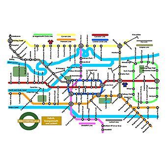 Wacky Metro Map Falkirk by Wacky Metro