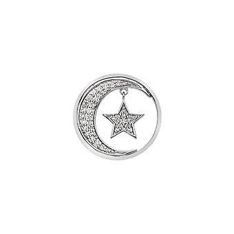 Emozioni Sterling Zilveren Plaat Notturno Drop 25mm Coin EC520