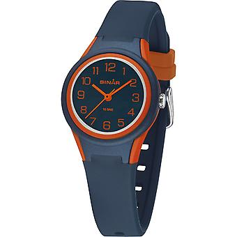 SINAR Youth Watch Kids Wristwatch Analog Quartz Silicone Band XB-47-12 Blue Orange