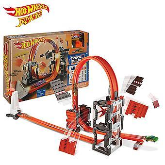 Original Hot Wheels Car Track Suit Building Block Car Toy Hotwheels Track Model