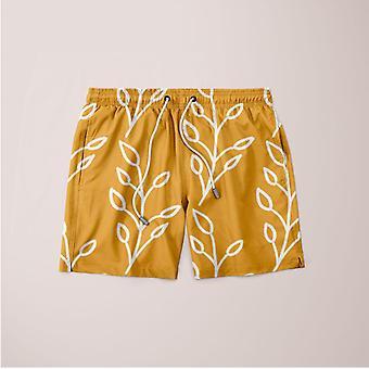 Feeling of lightness pattern - mellow yellow poster shorts