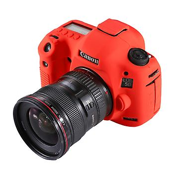 PULUZ Soft Silicone Protective Case for Canon EOS 5D Mark III / 5D3(Red)