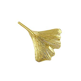 Spilla Ginkgo Foglia 30mm 9k Oro