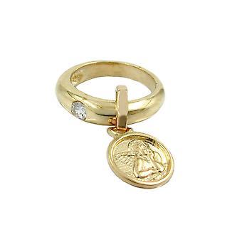 Pendant Ring Baby's Christening 9k Gold