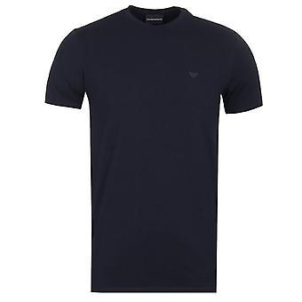 Emporio Armani Navy Eagle Logo T-Shirt