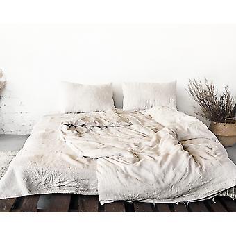 Natürliche leichte Leinen Bettwäsche Set