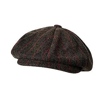 Zimní vintage rybí kosti Octagon Cap, barets Gatsby flat hat / ženy