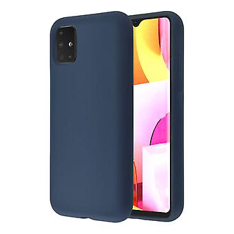 HATOLY Samsung Galaxy A40 Silicone Case - Soft Matte Case Liquid Cover Blue