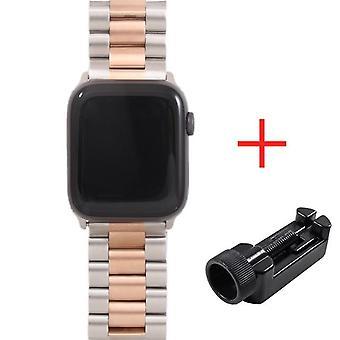 Ruostumattomasta teräksestä valmistettu kello rannekoru apple iwatch 38mm, 40mm, 42mm, 44mm sarjalle 5, 4, 3, 2,