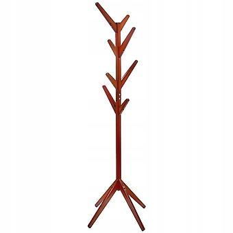 Kapstok staand - 45x171 cm - bruin - 8 haken