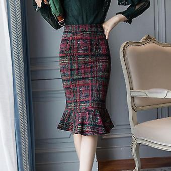 Printed Women Skirts, Elegant Casual Mermaid Skirt