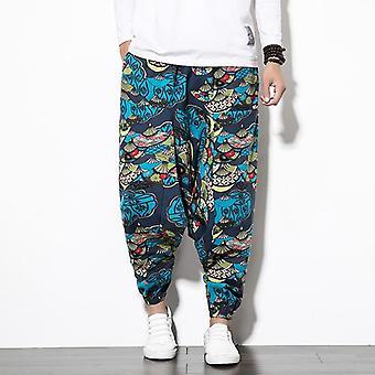 Pantalon Harem en coton Fashion Men avec pantalon pocket hip-hop baggy wide leg