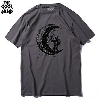 Paita O-neck Cool Street Style Miesten T-paita Miesten T-paidat Toppit