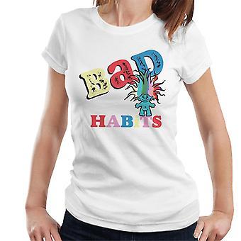 Trolls Bad Habits Multicolor Women's T-Shirt