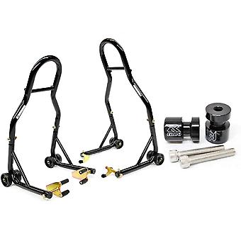 Motorcycle Front+Rear Dual Lift Stand - w/ Spools Compatible with Honda CBR250R 2011 CBR 250 R