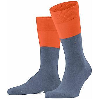 Burlington Chester Calcetines - Jeans Ligeros/Naranja