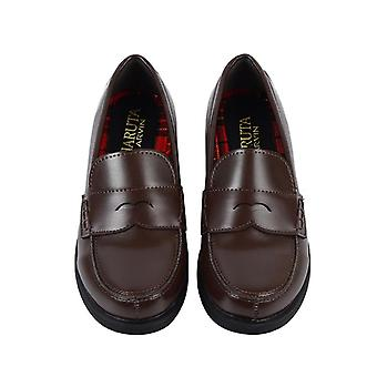 Student Shoesy Commuter Uniform Block Heels Pu Leather Loafers Casual