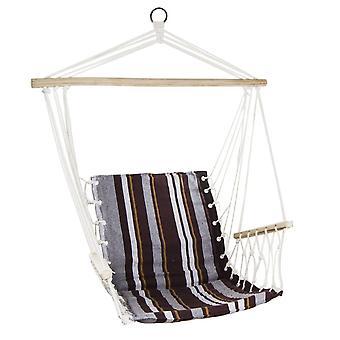 Lógó szék barna 100x60 cm - függőágy fotel karfával