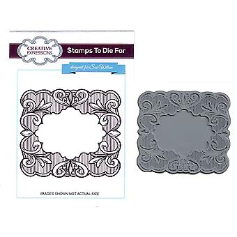 Creative Expressions Swirl Toile Pre Cut Stamp