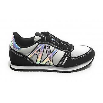 Shoes Women's Armani Exchange Sneaker Nylon/ Ecosuede Black/ White D21ax01