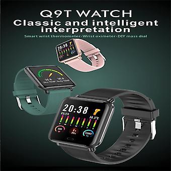 Q9T 1,3 palcová TFT farebná obrazovka Inteligentné hodinky IP67 Vodotesné, podporujú monitorovanie teploty / monitorovanie srdcovej frekvencie / monitorovanie krvného tlaku / monitor spánku