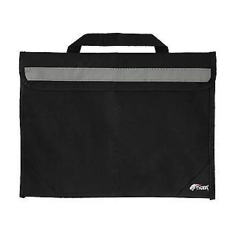 Tiger msa63 sheet music bag - school book bag with reflective strip - black