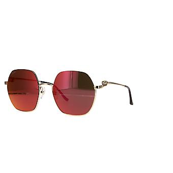 Cartier CT0267S 003 Gold/Red Mirror Sunglasses