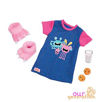Our generation snuggle monster pj regular outfit